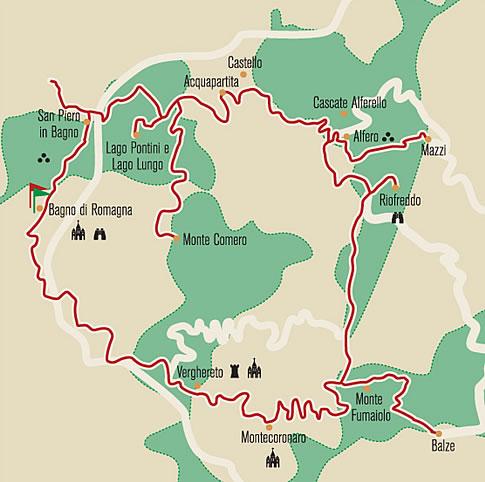 52 domeniche in romagna escursioni in romagna viaggiare in romagna scampagnate in - Parco laghi bagno di romagna ...
